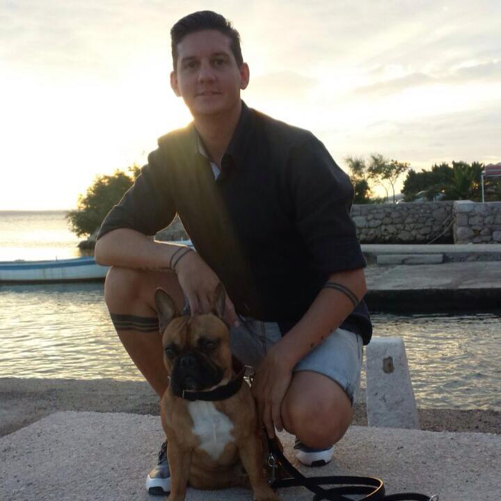 Kunde der Hundepension